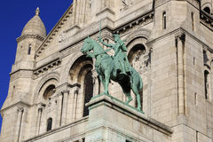 Sacre Coeur в Париже, Франции, 15-ое ноября 2015 Стоковые Изображения