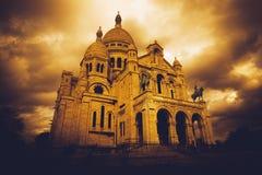Sacre Coeur в Париже Стоковые Изображения
