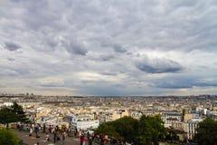 Sacre-Coeur в Montmartre Париже Стоковые Изображения