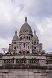 Sacre Coeur, известный ориентир ориентир туризма церков в Париже Франции Стоковые Изображения