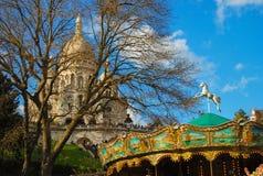 Sacre Coeur巴黎大教堂  库存图片
