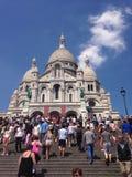Sacre Coeur巴黎教会 免版税库存照片