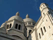 Sacre coeur. Basilica in Montmartre, Paris Royalty Free Stock Photography