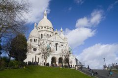 Sacre coeur. The domes of Sacre Coeur cathedral in Montmartre Square, Paris royalty free stock images