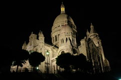 The Sacre Coeur. The white church on top of Montmartre in Paris: le Sacre Coeur Royalty Free Stock Photography