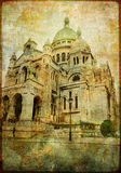 Sacre coeur. Artwork in painting style stock images