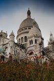 Sacre-Coeur através dos arbustos fotos de stock
