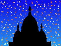 Sacre Coeur in autumn Royalty Free Stock Image