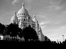 Sacre Coeur Basilica. Black and white of Sacre Coeur Basilica in Montmartre, Paris Royalty Free Stock Photo