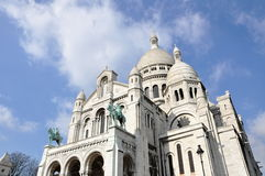 Sacre-Coeur Basilica. The Basilica of the Sacred Heart of Jesus of Paris, commonly known as Sacré-Coeur Basilica Royalty Free Stock Photos