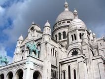 Sacre Coeur Basilica. In Paris Stock Photo