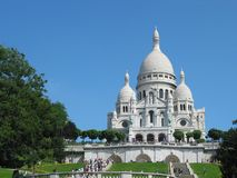Sacre Coeur Basilica. In Paris, France Royalty Free Stock Images