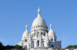 Sacre Coeur Basilica in autumn Royalty Free Stock Photography