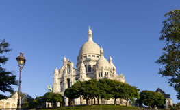 Sacré coeur basilica and butte montmarte Royalty Free Stock Images