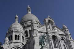 Sacre Coeur Basilica detail, Montmartre, Paris, France Royalty Free Stock Image