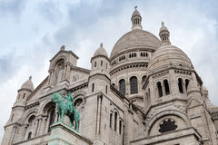 Sacre Coeur Basilica facade, Paris, France Stock Photo
