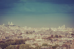 Sacre Coeur Basilica on the hill in Paris Stock Image