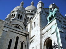 Sacre-Coeur Basilica i Paris Arkivbilder