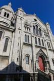 Sacre-Coeur Basilica i Paris Arkivfoto