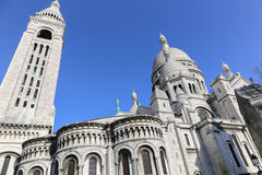 Sacre-Coeur Basilica i Paris Fotografering för Bildbyråer