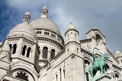 Sacre Coeur Basilica i Paris, Frankrike Arkivbilder