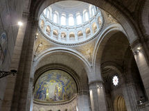 Sacre Coeur interior Royalty Free Stock Photos