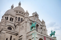 Sacre Coeur Basilica, large medieval cathedral, Paris, France Stock Photo