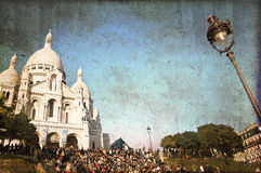 Sacre-coeur basilica on Montmartre Stock Images