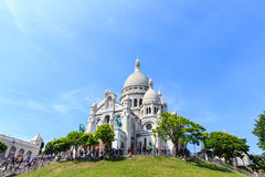 Sacre-Coeur Basilica on Montmartre, Paris Royalty Free Stock Images