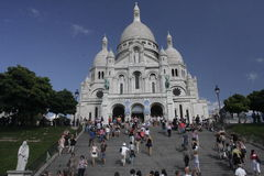 Sacre Coeur Basilica, Montmartre, Paris, France Royalty Free Stock Photography