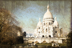 Sacre Coeur basilica on Montmartre, Paris France Stock Photography