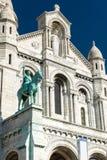 Sacre-Coeur Basilica on Montmartre, Paris Stock Images