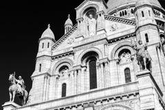 Sacre-Coeur Basilica on Montmartre, Paris Stock Photos