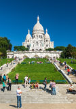 Sacre-Coeur Basilica on Montmartre, Paris Stock Photography