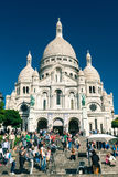 Sacre-Coeur Basilica on Montmartre, Paris Stock Image