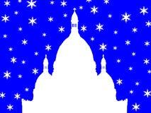 Sacre Coeur Basilica Montmartre in winter Stock Photo