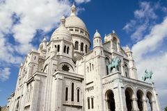 Sacre Coeur Basilica in Montmatre,. Paris Stock Images