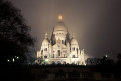 Sacre Coeur Basilica. At Night Royalty Free Stock Image