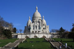 Sacre-Coeur basilica in Paris, France Stock Images
