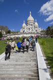 Sacre Coeur Basilica in Paris, France Royalty Free Stock Photos