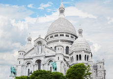 Sacre Coeur Basilica in Paris Stock Photography