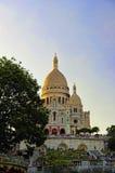 The Sacre Coeur basilica, Paris, France Royalty Free Stock Photos