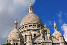 Sacre Coeur Basilica in Paris, France. Royalty Free Stock Images