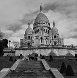 Sacre Coeur Basilica in Paris Stock Photography