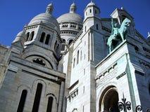 Sacre-Coeur Basilica in Paris. View of the Sacre-Coeur Basilica in Paris, France Stock Images