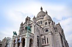 Sacre-Coeur Basilica (Sacré-Cœur), Paris, France. Royalty Free Stock Photo