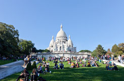 Sacre Coeur Basilica in summer day Royalty Free Stock Photography