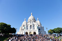Sacre Coeur Basilica in summer day Royalty Free Stock Images