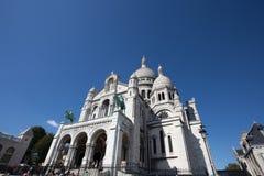 Sacre-Coeur Basilique i Montmartre Paris, Frankrike royaltyfria bilder