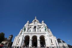 Sacre-Coeur Basilique i Montmartre Paris, Frankrike royaltyfria foton